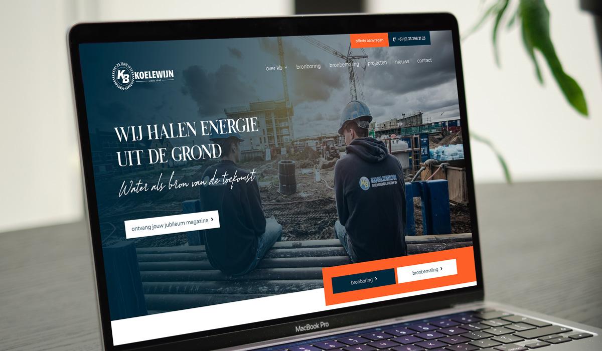 Nieuwe website voor Koelewijn Bronbemaling